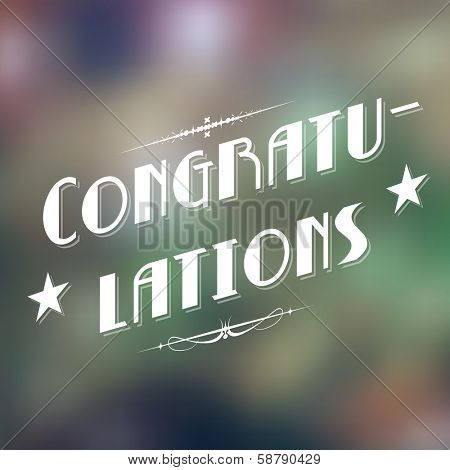 illustration of Congratulations typography background