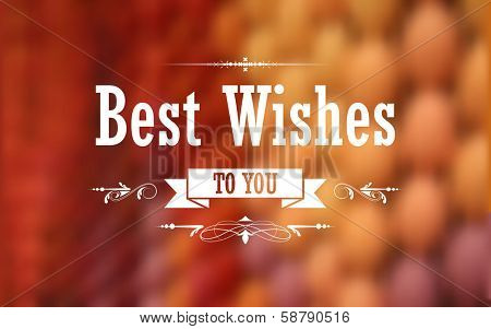illustration of Best Wishes typography background