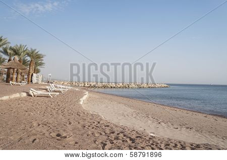 Empty beach near the Red sea