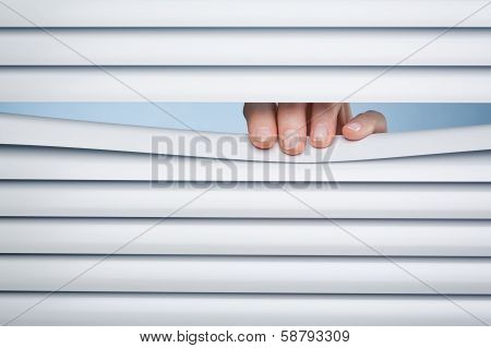Privacy - Looking Through Closed Blinds