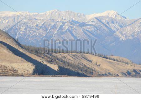 frozen lake in canada