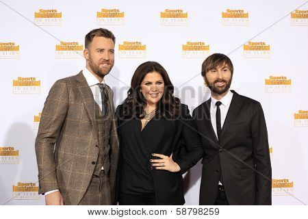 LOS ANGELES - JAN 14:  Lady Antebellum at the 50th Sports Illustrated Swimsuit Issue at Dolby Theatre on January 14, 2014 in Los Angeles, CA