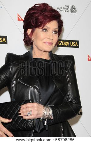 LOS ANGELES - JAN 11:  Sharon Osbourne at the  2014 G'Day USA Los Angeles Black Tie Gala at JW Marriott Hotel at L.A. LIVE on January 11, 2014 in Los Angeles, CA