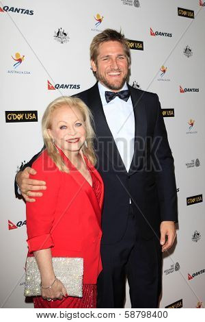 LOS ANGELES - JAN 11:  Jacki Weaver, Curtis Stone at the  2014 G'Day USA Los Angeles Black Tie Gala at JW Marriott Hotel at L.A. LIVE on January 11, 2014 in Los Angeles, CA