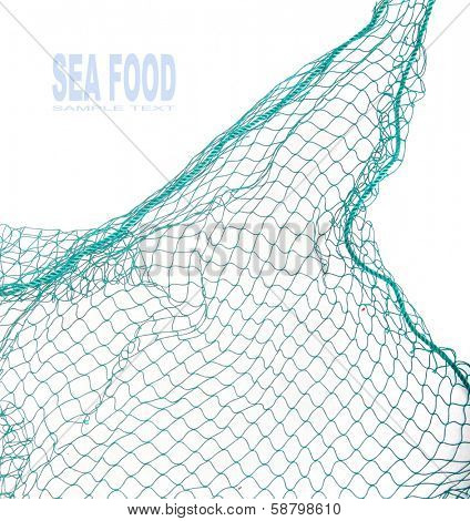 Fishing net with space for your text.