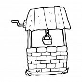 image of wishing-well  - cartoon wishing well - JPG