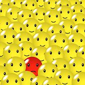 pic of smiley face  - Happy face design available in jpeg and eps8 formats - JPG