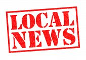 stock photo of current affairs  - LOCAL NEWS red Rubber Stamp over a white background - JPG