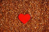 stock photo of flaxseeds  - diet healthcare concept - JPG