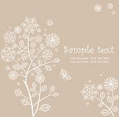 Beautiful abstract background with lacy tree