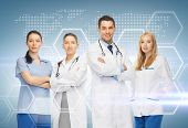 stock photo of male nurses  - healthcare and medicine concept  - JPG