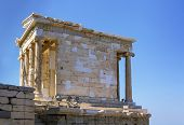 stock photo of ionic  - The Temple of Athena Nike is a temple on the Acropolis of Athens - JPG