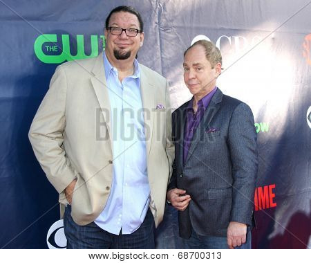 LOS ANGELES - JUL 17:  Penn Jilette, Teller aka Raymond Joseph Teller at the CBS TCA July 2014 Party at the Pacific Design Center on July 17, 2014 in West Hollywood, CA