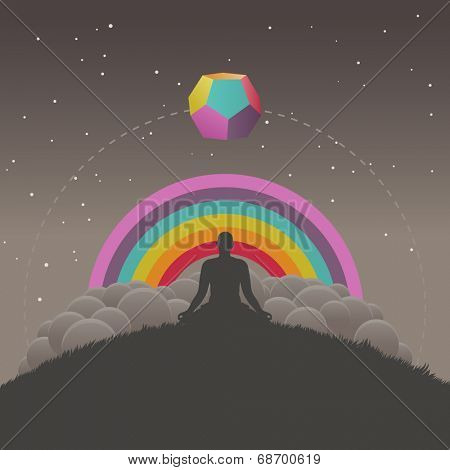Meditation, vector illustration