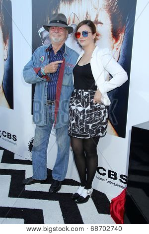 LOS ANGELES - JUL 16:  Russ Tamblyn, Amber Tamblyn at the 'Twin Peaks - The Entire Mystery' Blu-Ray/DVD Release Party And Screening at the Vista Theater on July 16, 2014 in Los Angeles, CA
