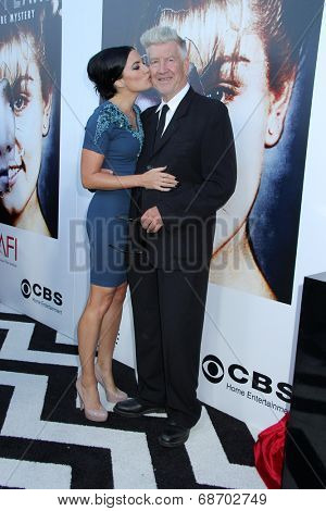 LOS ANGELES - JUL 16:  Madchen Amick, David Lynch at the 'Twin Peaks - The Entire Mystery' Blu-Ray/DVD Release Party And Screening at the Vista Theater on July 16, 2014 in Los Angeles, CA