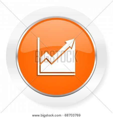 histogram orange computer icon