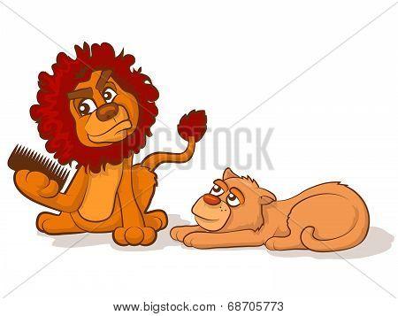 Combing A Lion's Mane