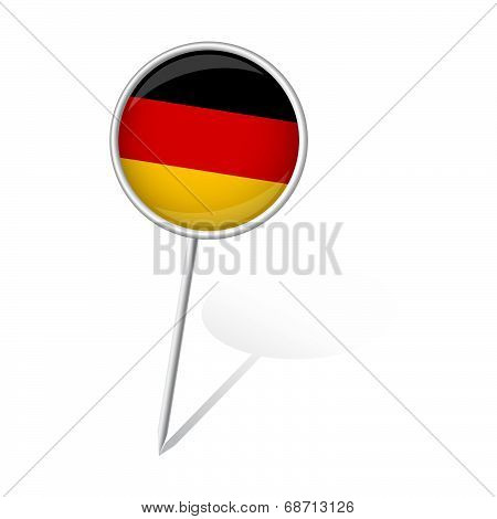 Pin Round - Germany
