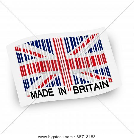 Flag With Barcode -  Made In Britain
