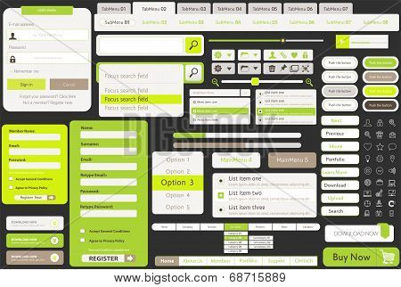 one page website template kit