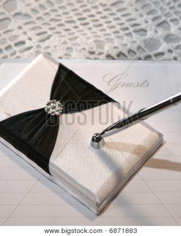 Hochzeit oder Ereignis Gästebuch und Stift