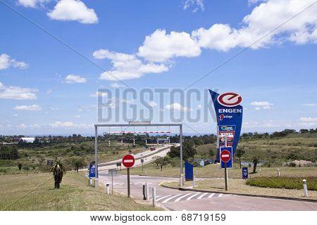 Entrance To Fuel Stop Between Durban And Pietermaritzburg