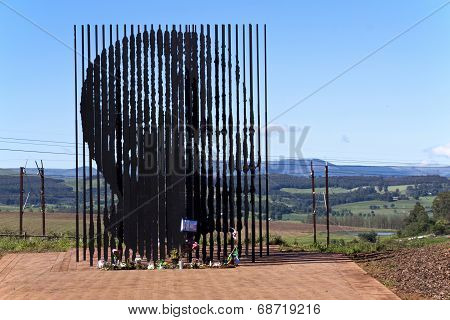 Metal Sculpture Of Nelson Mandela At Howick Capture Site