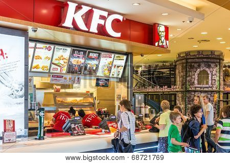 People Buying Fried Chicken At A Local Kentucky Fried Chicken