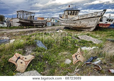 Old Boat Scrap Yard