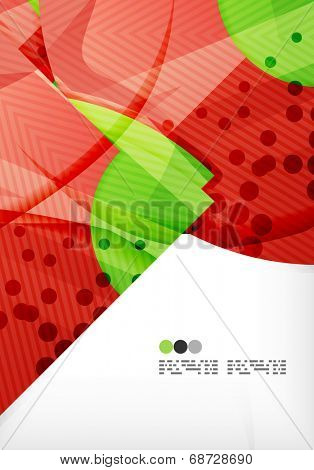 Semicircle geometric abstract composition with place for text