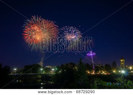 Fireworks over Spokane