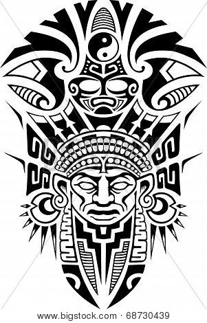 Ethnic Tribal Mask vector illustration