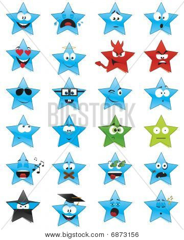 Star-shaped smiles