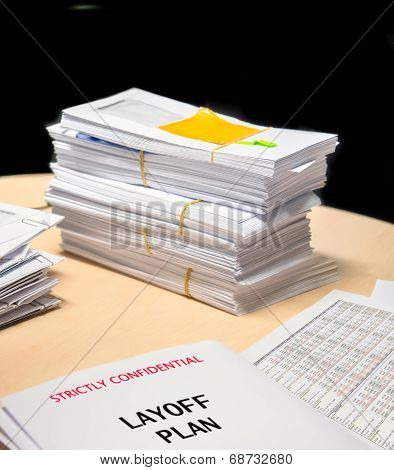 Business Financial Statement With Envelops On Planning Table