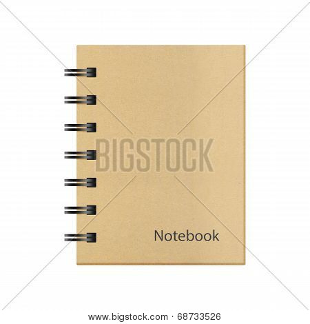 Ring Binder Notebook Texture Isolated On A White Background Of Paper Cut