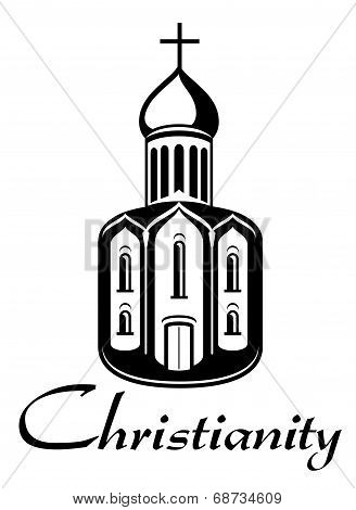 Black and white Christianity icon