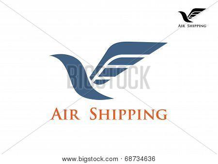 Air shipping symbol or emblem