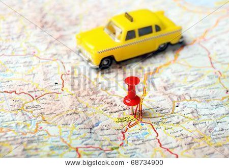 Tripoli Greece Map Taxi