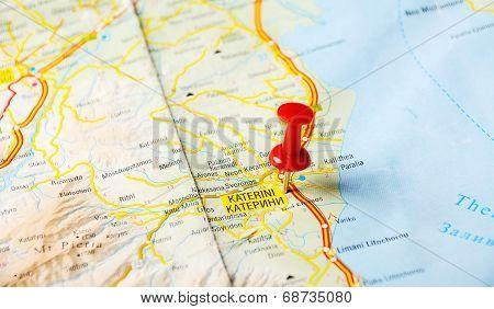 Katerini Greece Map