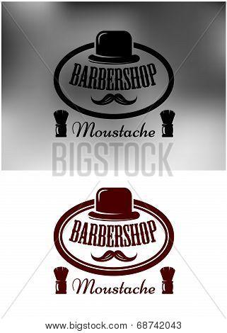 Classy Barber Shop icon, emblem or label