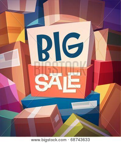 Big sale card \ poster design. Vector illustration