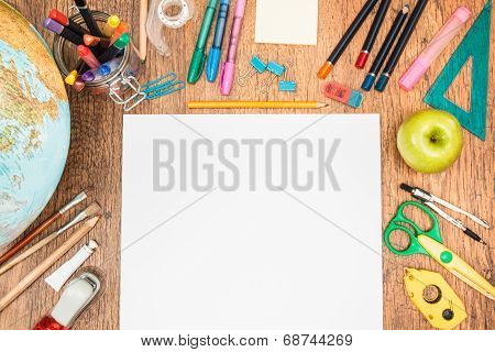 School Accessories On A Desk