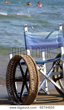 Wheel Chair With Steel Wheels
