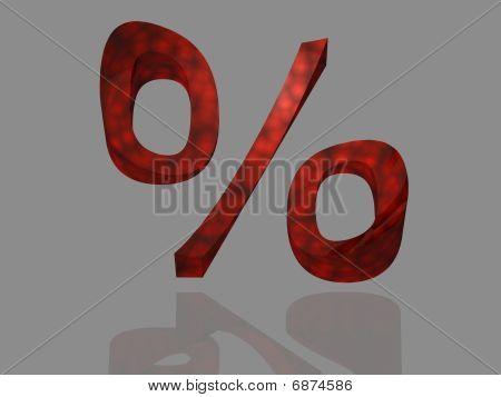 Discount aktion - percent sign