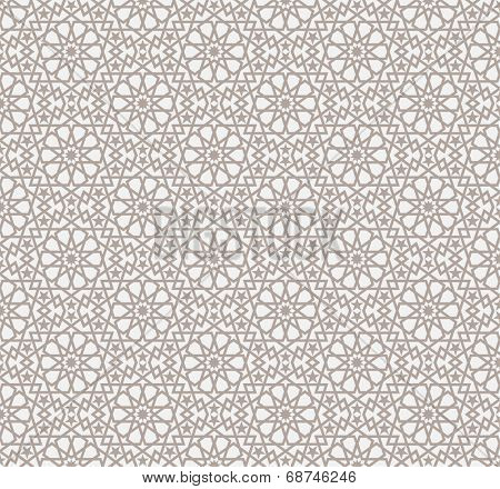 Background with seamless pattern in islamic style