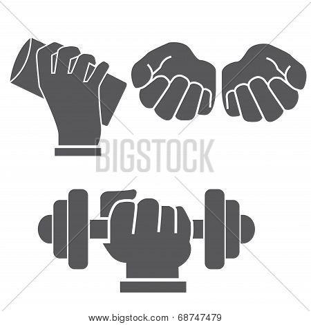 hands in different postures