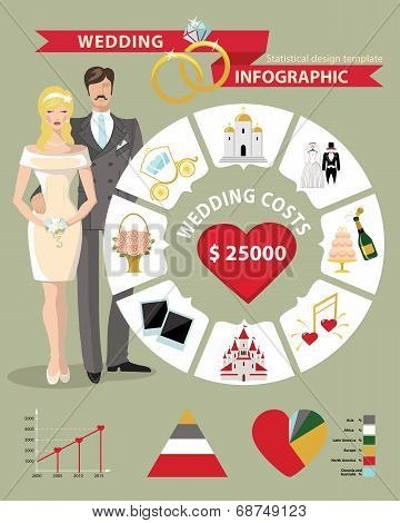 Wedding Infographic Set With Circle Business Concepts,diagram
