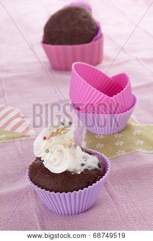 Delicious Muffin Baking Still Life.