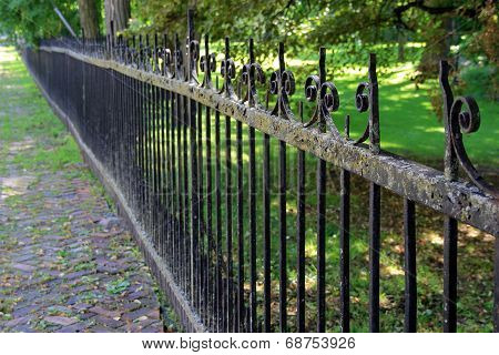 Length of old wrought iron fence